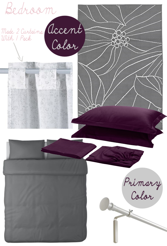 Gallery for purple and grey bedroom ikea - Purple and grey room decor ...