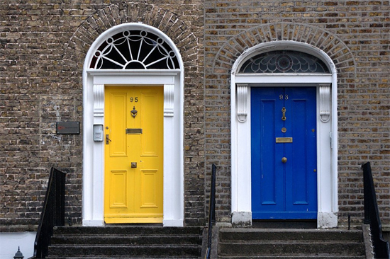 Dream Away Wednesday Bright Colorful Doors Blush And