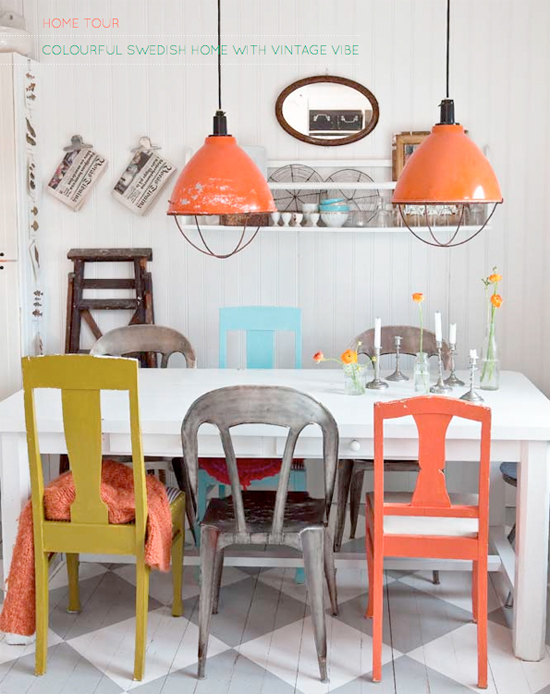 home decor: colorful chairs - blush and jelly