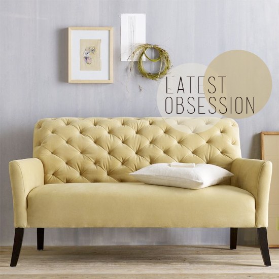latest obsession elton settee from west elm blush and jelly. Black Bedroom Furniture Sets. Home Design Ideas