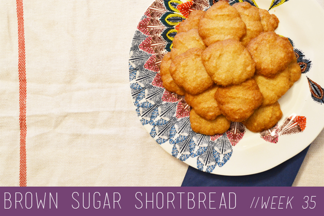 ... Challenge // Week 35: Brown Sugar Shortbread Cookies - Blush and Jelly