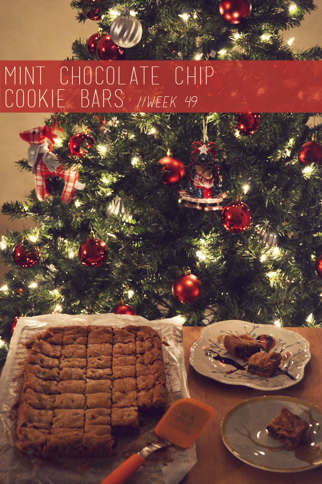 The Cookie Challenge // Week 49: Mint Chocolate Chip Cookie Bars