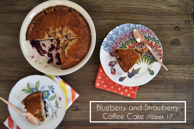 Blueberry and Strawberry Coffee Cake
