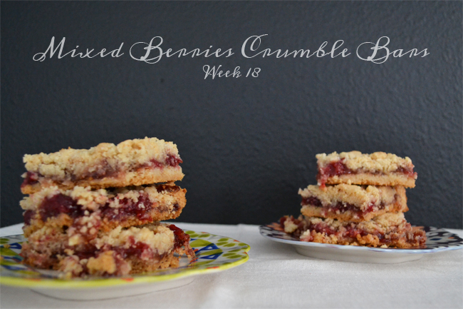 Mixed Berries Crumble Bars