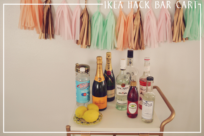 DIY Bar Cart from IKEA