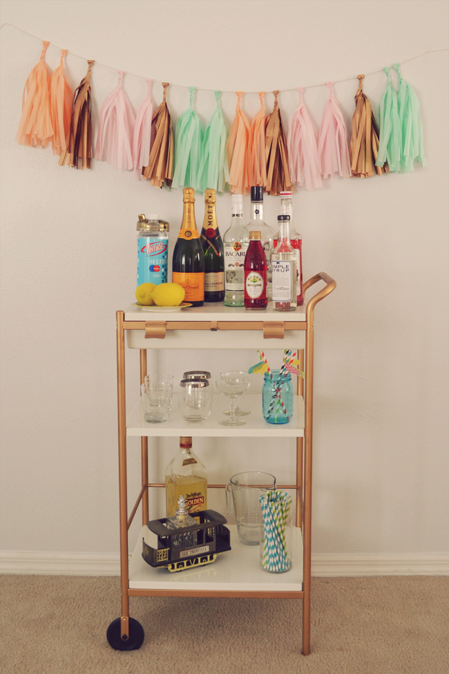IKEA Hack - DIY Bar Cart