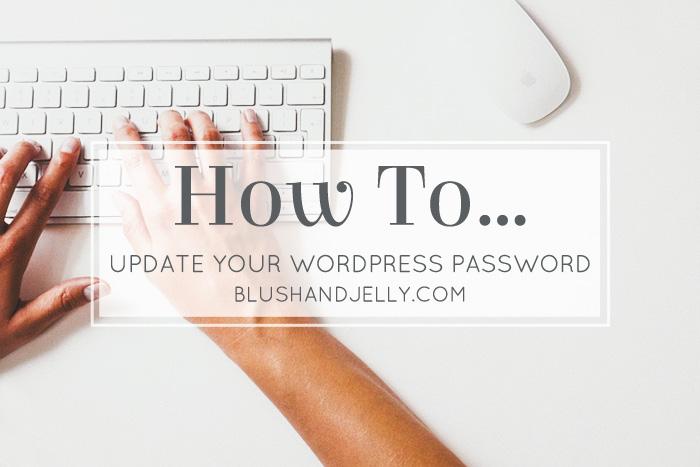 Updating Your WordPress Password