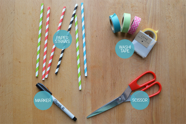 Washi Tape and Paper Straws