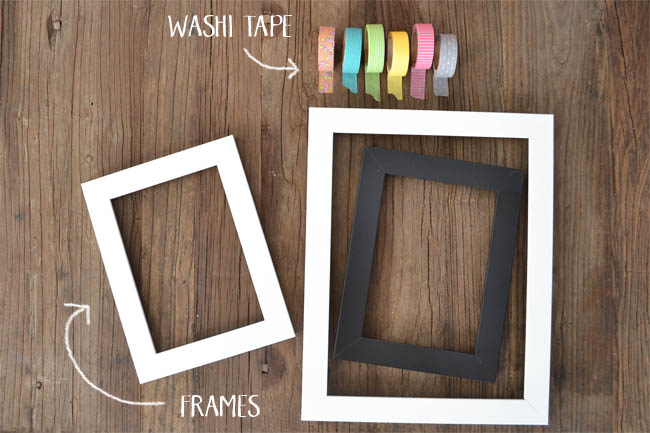 Supplies for Washi Tape Frames
