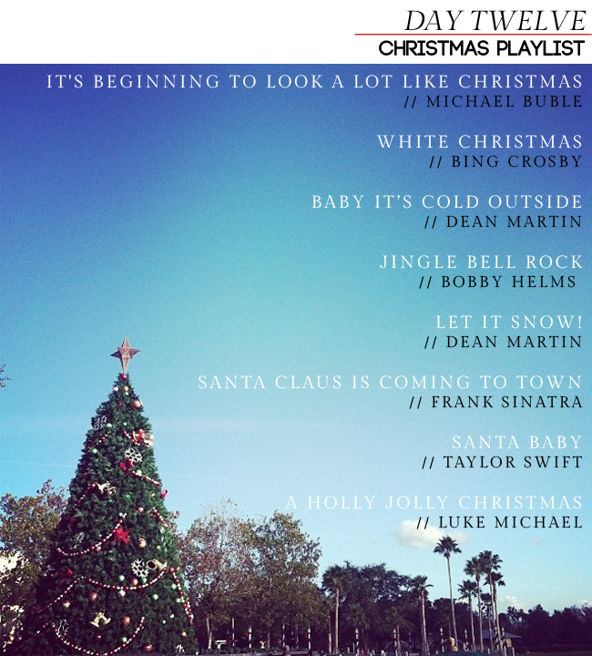 Day 12 // Christmas Playlist