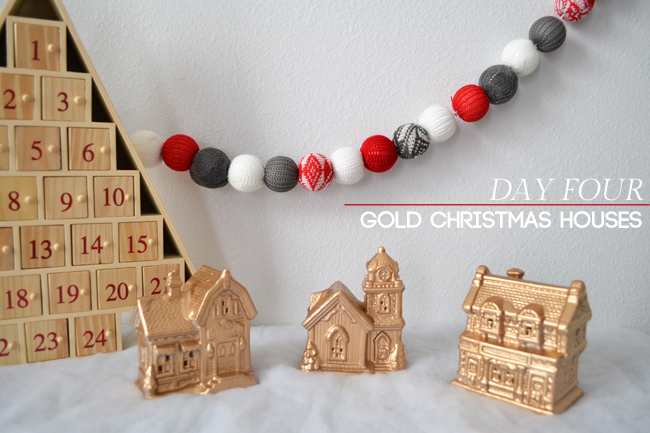 Gold Christmas Houses