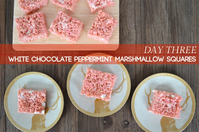 White Chocolate Peppermint Marshmallow Squares