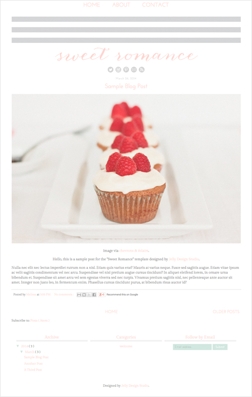 Sweet Romance Blogger Template