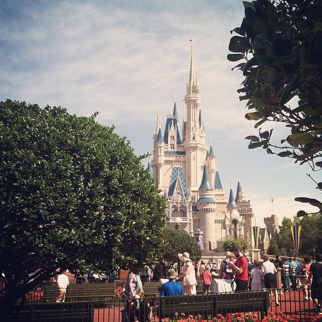 Magic Kingdom on a Beautiful Day