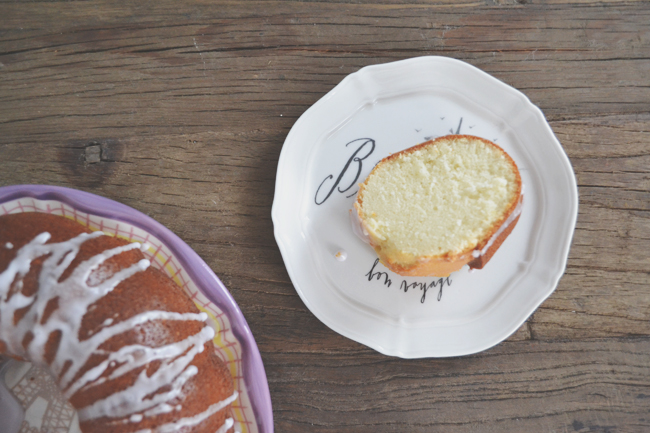Recipe for Almond and Lavender Bundt Cake