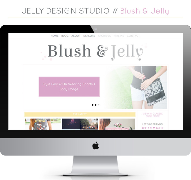 Blush and Jelly Blog Redesign