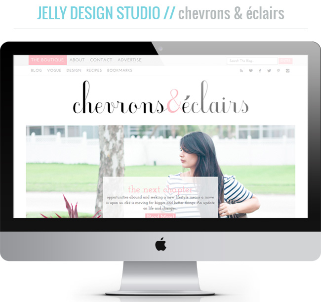 chevrons and eclairs blog design