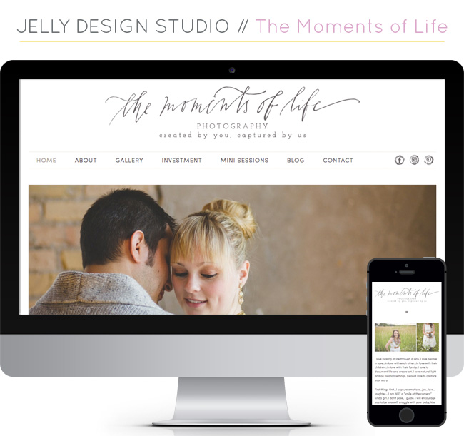 The Moments of Life Responsive Website Design by Jelly Design Studio | www.jellydesignstudio.com