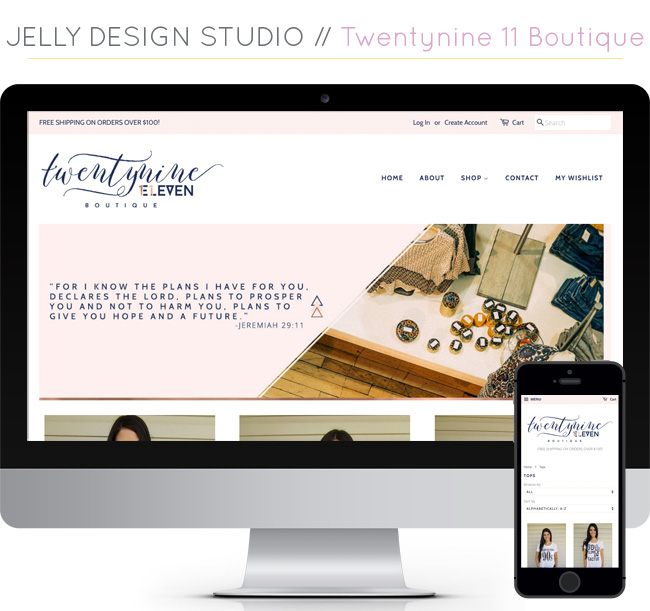 Web Projects // Twentynine 11 Boutique