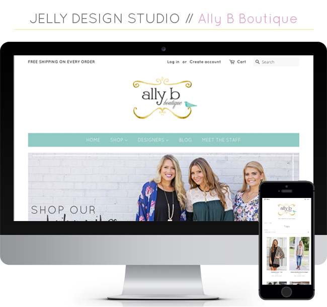 Web Projects // Ally B Boutique