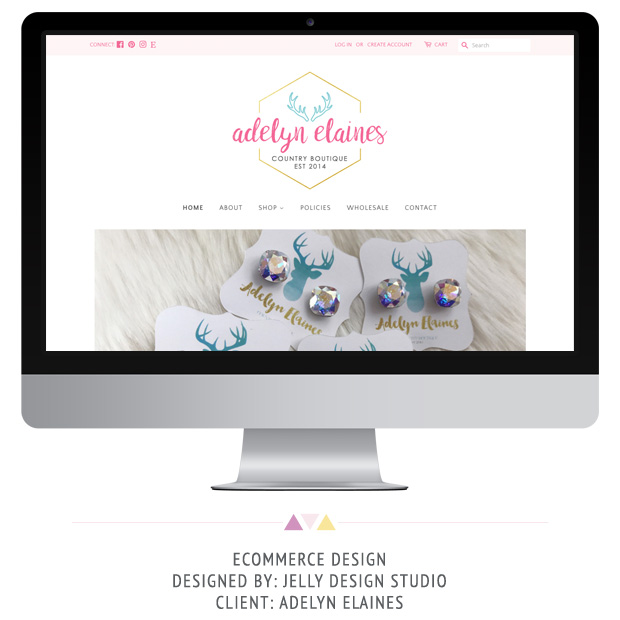 Web Design Project for Adelyn Elaines by Jelly Design Studio | jellydesignstudio.com